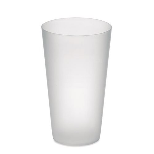 VASO FROSTED PP REUTILIZABLE 550 ML