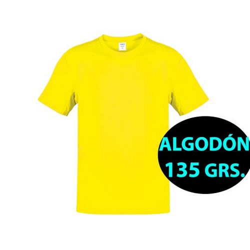 CAMISETA ALGODÓN 135 GRS. ADULTO COLOR HECOM