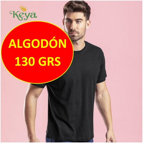 CAMISETA ALGODÓN 130 GRS. ADULTO COLOR KEYA MC130