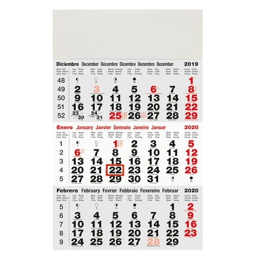 CALENDARIO TRIMESTRAL PARED