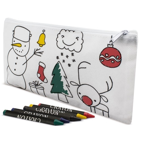 PACK 10 ESTUCHES PARA COLOREAR CHRISTMAS CON CERAS