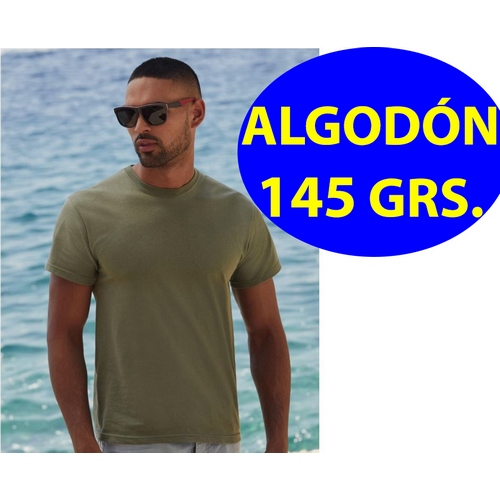 CAMISETA 145 GR ALGODON ORIGINAL FRUIT OF THE LOOM(BLANCO) (S-2XL)