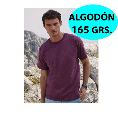 CAMISETA ALGODON VALUEWEIGHT 165 GR FRUIT OF THE LOOM BLANCO,NATURAL (TALLAS: S-2XL)