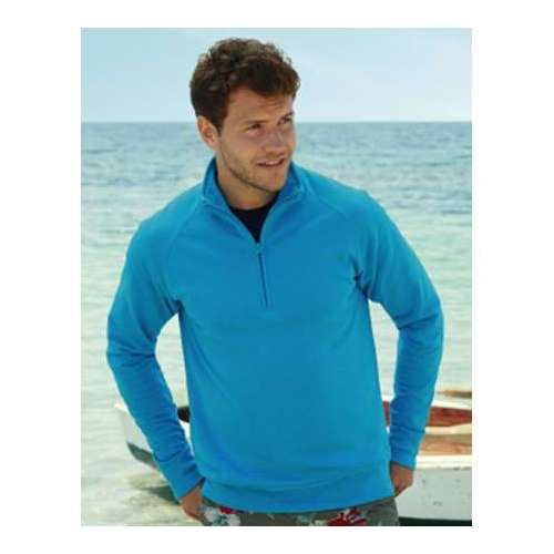 SUDADERA LIGERA CREMALLERA 1/4 HOMBRE FRUIT OF THE LOOM (COLOR) (S-2XL)