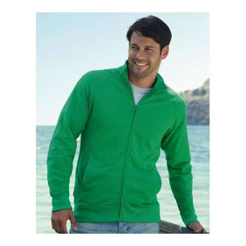 SUDADERA LIGHTWEIGHT CREMALLERA ENTERA FRUIT OF THE LOOM (BLANCO) (S-2XL)