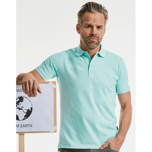 POLO PURE ORGANIC HOMBRE RUSSELL (COLOR) (XS - 3XL)