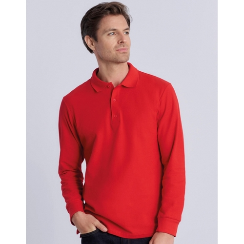 POLO PIQUÉ DOBLE HOMBRE MANGA LARGA GILDAN (COLOR) (S-2XL)