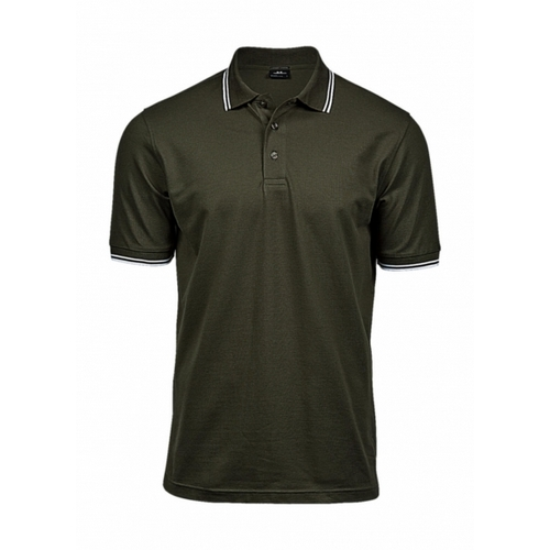 POLO LUXURY STRIPE STRETCH POLO TEE JAYS(COLOR) (S-2XL)