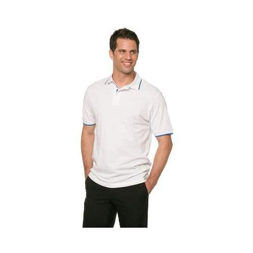 POLO PIQUÉ CUELLO RAYADO B & C (COLOR) (S-2XL)