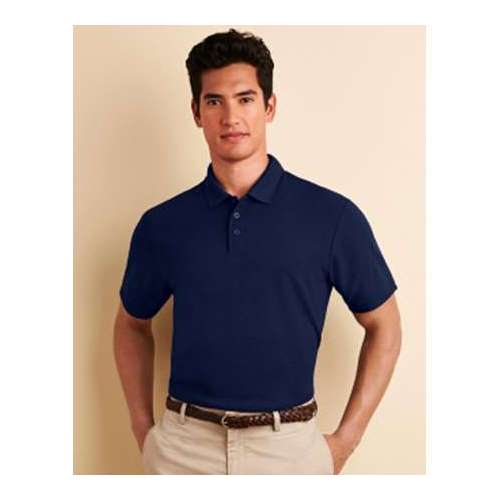 POLO PERFORMANCE® PIQUÉ DOBLE HOMBRE GILDAN (BLANCO) (S-2XL)