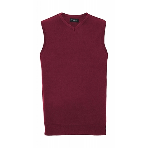 JERSEY ADULTOS V-NECK SLEEVELESS KNITTED PULLOVER RUSSELL EUROPE (COLOR) (XXS-2XL)